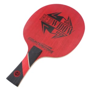 Carbon Table Tennis Blade | Red Widow | Ping Pong Blade | Professional Table Tennis Blade | Tournament Ready | ITTF Approved | Carbon Blade | Offensive Table Tennis Blade | Offensive Ping Pong Blade | Front View
