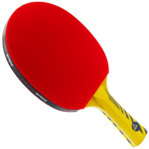 Alpha Dog Paddle (Spin Mystic Rubber) | Pre-Assembled Paddles | Pre-Made Paddles | Table Tennis Paddles | Ping Pong Paddles | CounterStrike Table Tennis | Vertical Side Angled