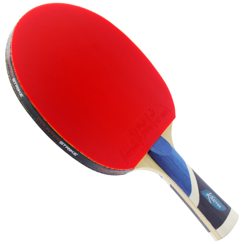 Karma Paddle (Auto Pilot Rubber) | Pre-Assembled Paddles | Pre-Made Paddles | Table Tennis Paddles | Ping Pong Paddles | CounterStrike Table Tennis | Vertical Side Angled