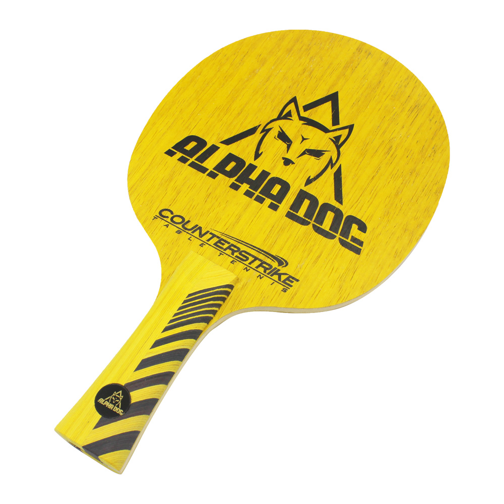 Table Tennis Blade | Alpha Dog | Ping Pong Blade | Professional Table Tennis Blade | Tournament Ready | ITTF Approved | All-Around Blade | Front View