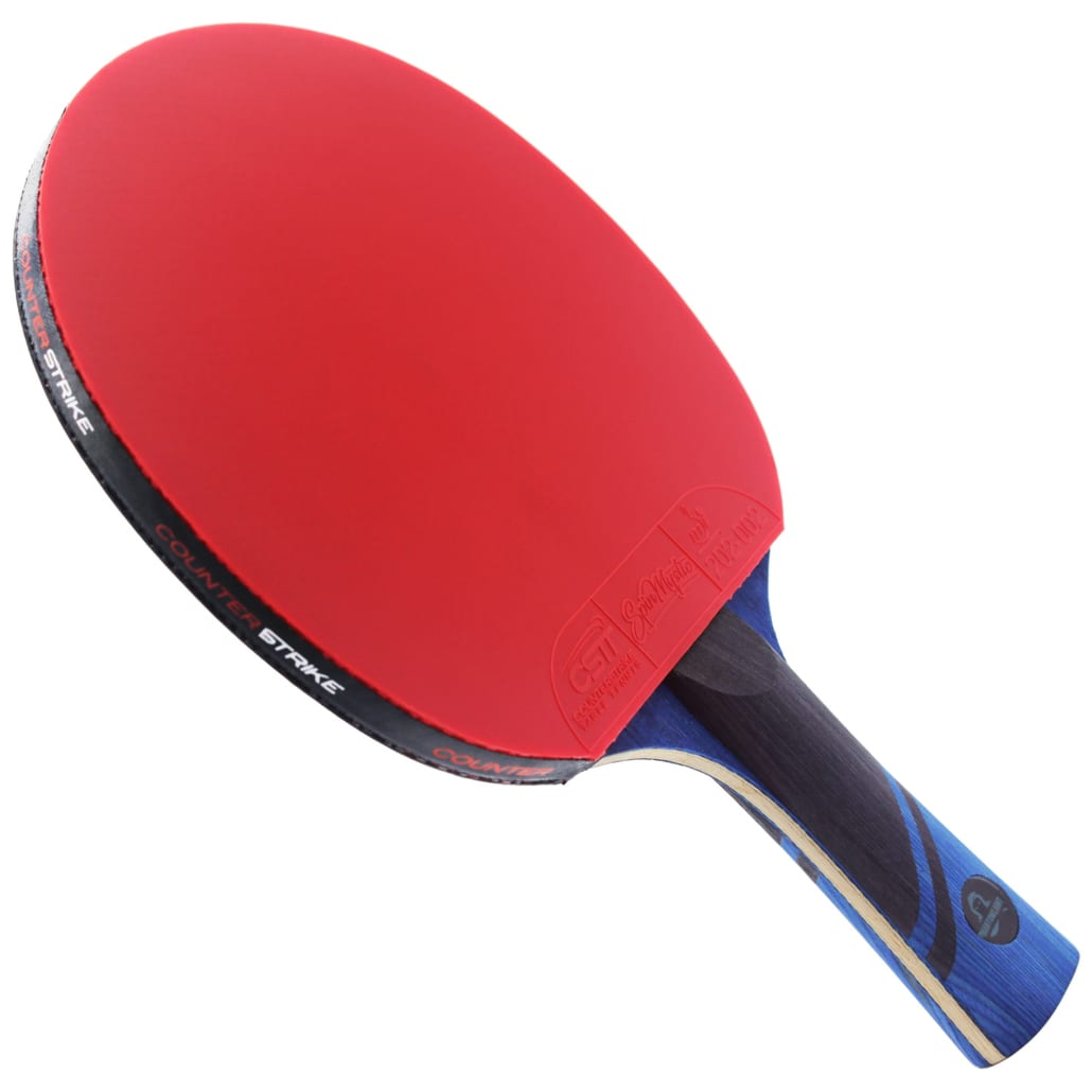 Phantom Light Paddle (Spin Mystic Rubber)   Pre-Assembled Paddles   Pre-Made Paddles   Table Tennis Paddles   Ping Pong Paddles   CounterStrike Table Tennis   Vertical Side Angled