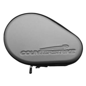 Table Tennis Paddle Hard Case | Ping Pong Paddle Hard Case | Water Resistant | Silver | Top Angle View