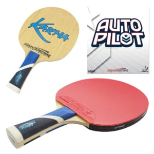 Karma Paddle (Auto Pilot Rubber) | Pre-Assembled Paddles | Pre-Made Paddles | Table Tennis Paddles | Ping Pong Paddles | CounterStrike Table Tennis | Composite