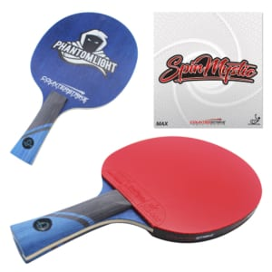 Phantom Light Paddle (Spin Mystic Rubber)   Pre-Assembled Paddles   Pre-Made Paddles   Table Tennis Paddles   Ping Pong Paddles   CounterStrike Table Tennis   Composite