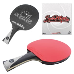 Rally Bandit Paddle (Spin Mystic Rubber)   Pre-Assembled Paddles   Pre-Made Paddles   Table Tennis Paddles   Ping Pong Paddles   CounterStrike Table Tennis   Composite