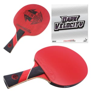 Red Widow Paddle (Dark Velocity Rubber)   Pre-Assembled Paddles   Pre-Made Paddles   Table Tennis Paddles   Ping Pong Paddles   CounterStrike Table Tennis   Composite