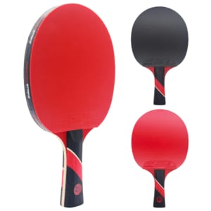 Red Widow Paddle (Dark Velocity Rubber)   Pre-Assembled Paddles   Pre-Made Paddles   Table Tennis Paddles   Ping Pong Paddles   CounterStrike Table Tennis   Vertical Side and Back and Front