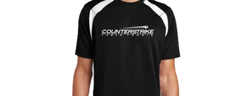 CounterStrike Black Table Tennis Team Shirt | Black Table Tennis Shirt | Black Ping Pong Shirt
